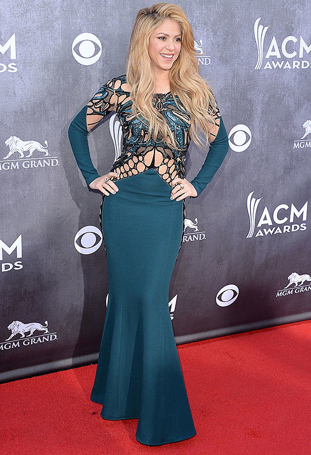 Shakira at 2014 Academy of Country Music Awards Red Carpet