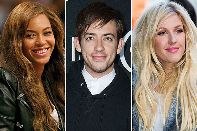 Beyonce, Kevin McHale and Ellie Goulding