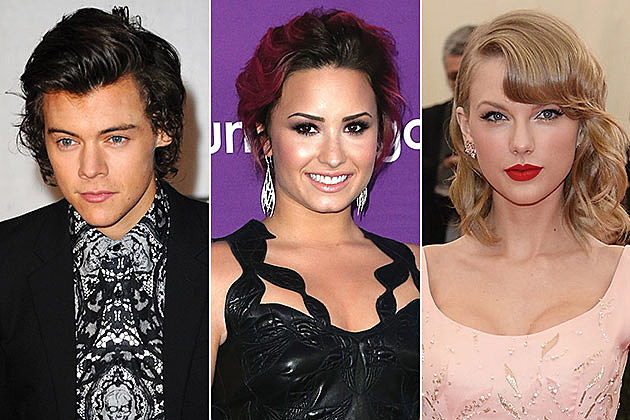 Harry Styles, Demi Lovato and Taylor Swift