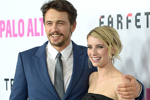 James Franco and Emma Roberts