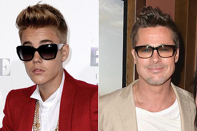 Justin Bieber + Brad Pitt