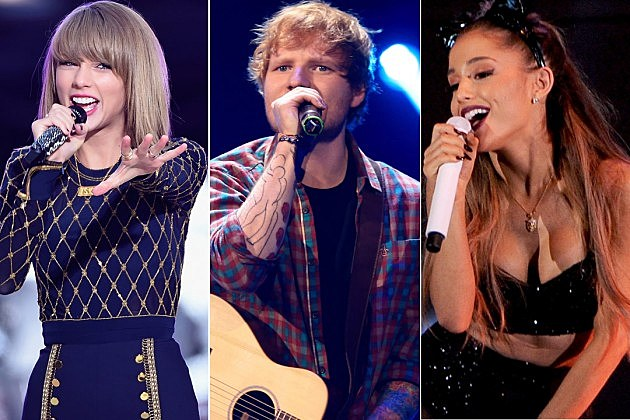 Taylor Swift Ed Sheeran Ariana Grande