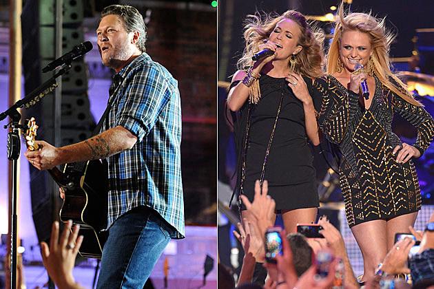 Blake Shelton Carrie Underwood Miranda Lambert