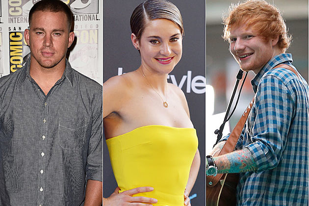 Channing Tatum Ed Sheeran Shailene Woodley