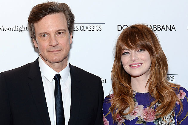 Colin Firth + Emma Stone