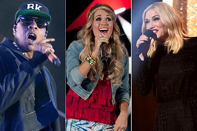 Jay Z / Carrie Underwood / Gwen Stefani