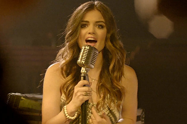The normally sweet bubbly lucy hale is falling to pieces at least