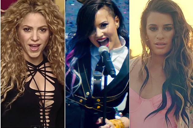 Shakira Demi Lovato Lea Michele