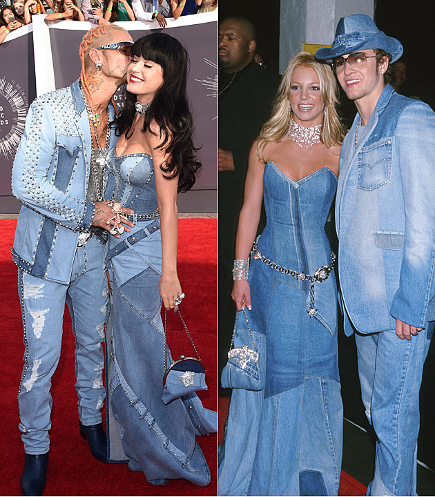 Image Gallery katy perry vmas denim