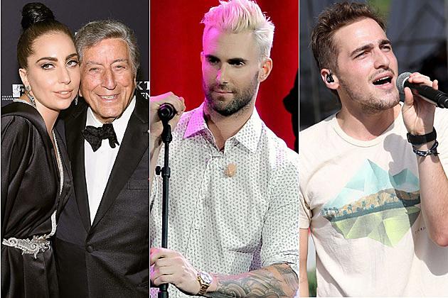 Lady Gaga Adam Levine Kendall Schmidt