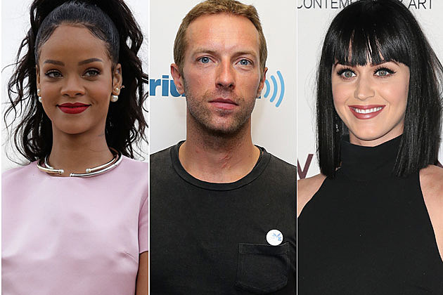 Rihanna Coldplay Katy Perry