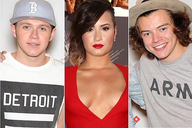 Niall Horan Demi Lovato Harry Styles