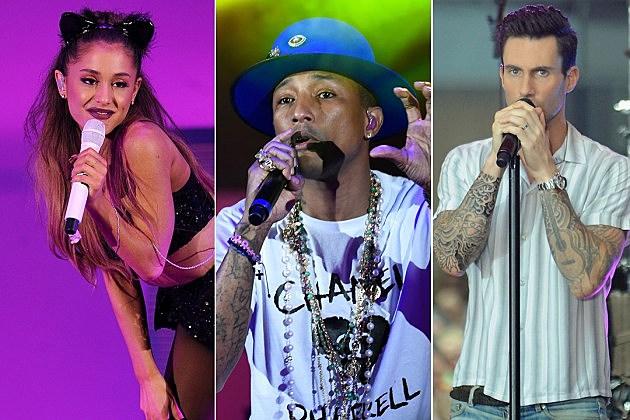 Ariana Grande / Pharrell / Adam Levine