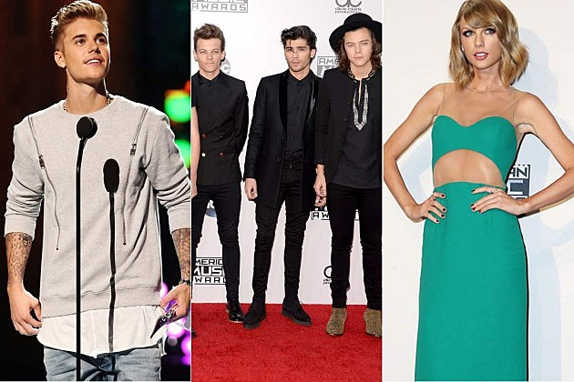 Justin Bieber One Direction Taylor Swift