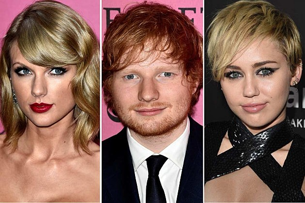 Taylor Swift Ed Sheeran Miley Cyrus