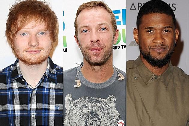 Ed Sheeran Chris Martin Usher