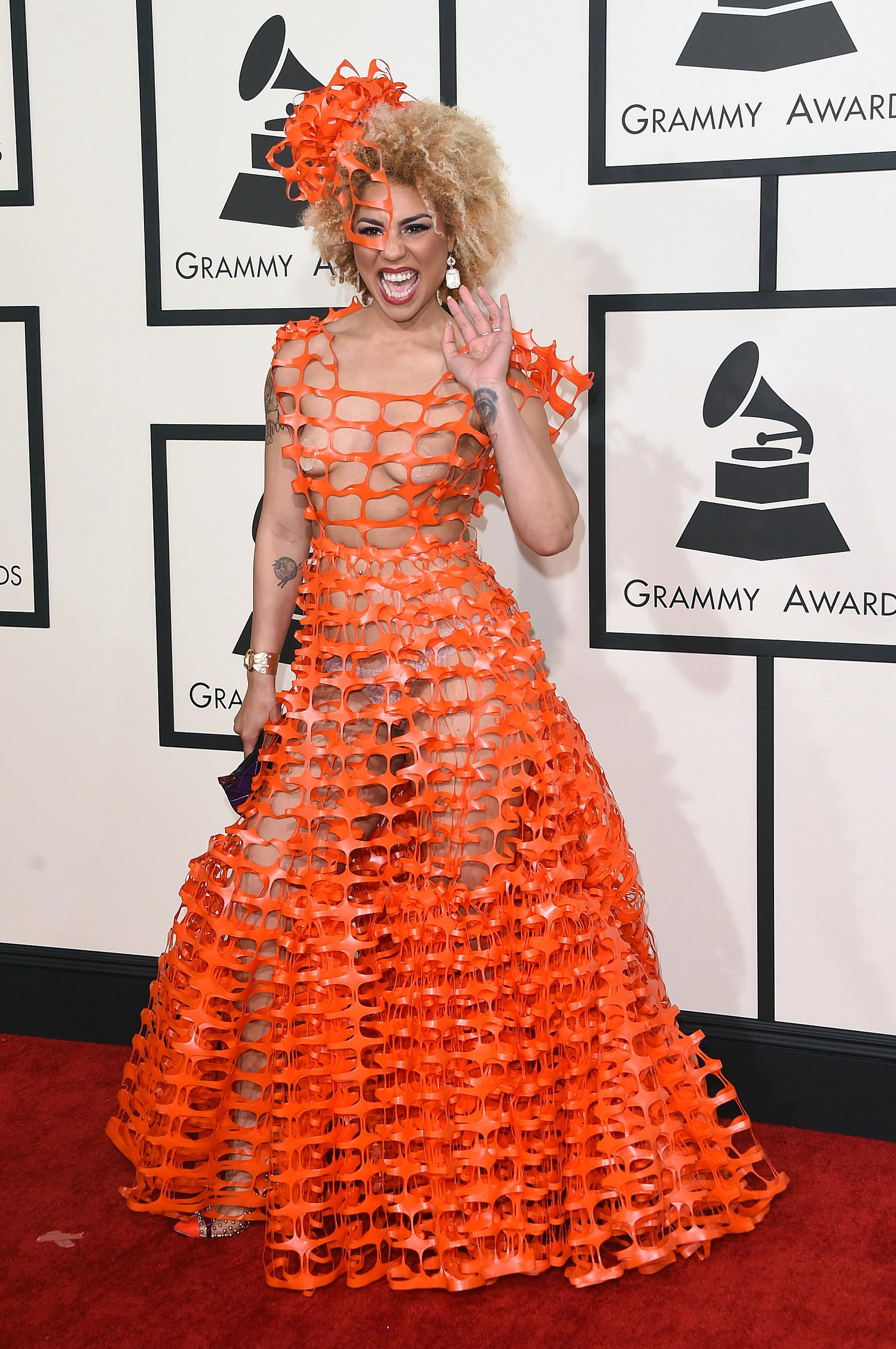 Joy Villa Wears Plastic Dress To 2015 Grammy Awards Photo
