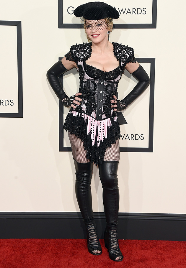 Madonna went full Madonna on the Grammys' red carpet | Social ...