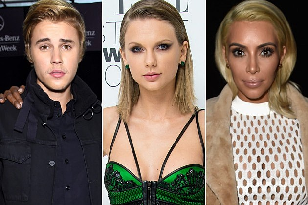 Justin Bieber Taylor Swift Kim Kardashian