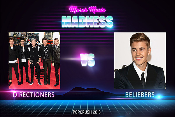 One Direction's Directioners vs. Justin Biebers' Beliebers - Best Fanbase [ROUND 1]