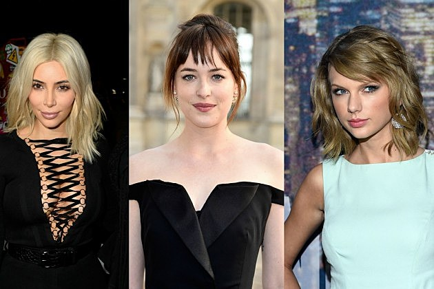 Kim Kardashian, Dakota Johnson, Taylor Swift