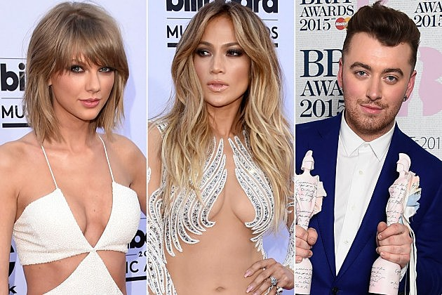Taylor Swift Jennifer Lopez Sam Smith