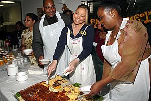 Mariah Carey Hosts 6th Annual Thanksgiving Charity Dinner At True Worship Church