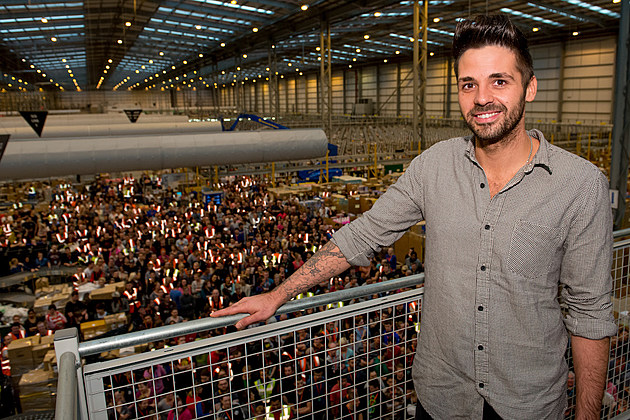 ben haenow brown checkered button up
