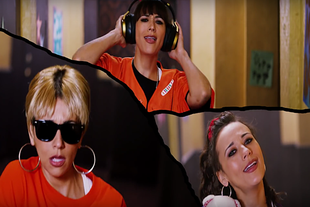 rashida jones threeway shot from 'flip and rewind'