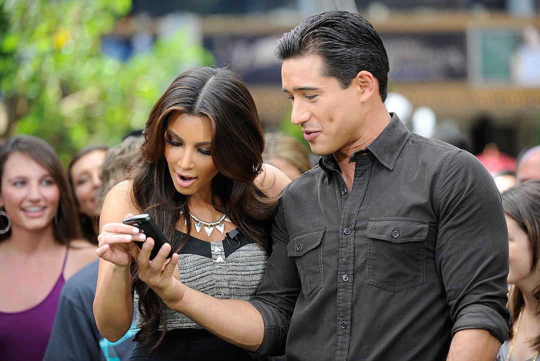 Kim Kardashian Visits Extra Set