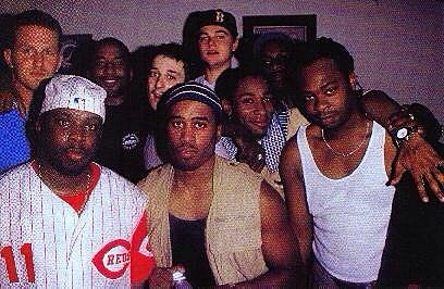 David Rappaport, Leonardo DiCaprio, A Tribe Called Quest, Busta Rhymes and Harmony Korine in the '90s.  (via Tumblr, @goodfiends)