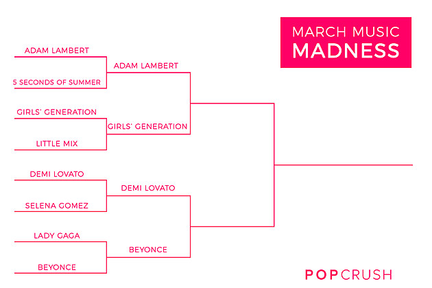 PopCrush March Madness Best Fanbase Semi Finals