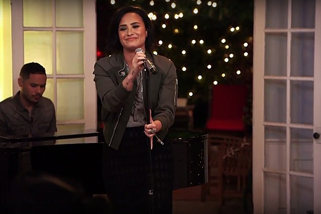 demi lovato performs stone cold on the late late show