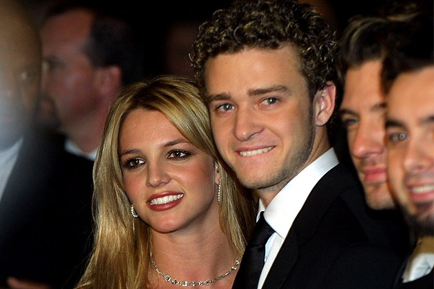 Justin Timberlake with his ex-girlfriend Britney Spears