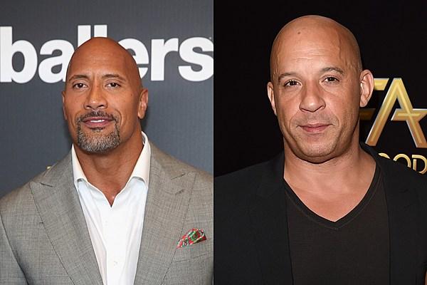Dwayne 'The Rock' Johnson Shades 'Fast 8' Co-Star Vin Diesel on Instagram