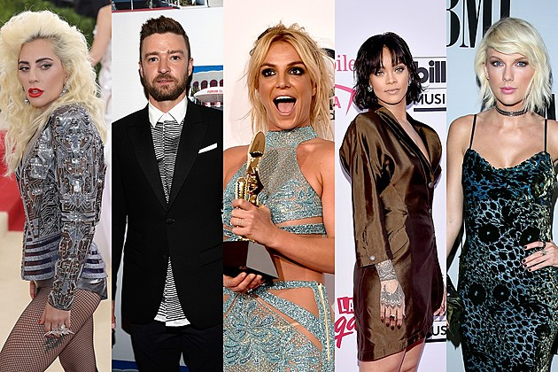 Lady Gaga, Justin Timberlake, Rihanna, Britney Spears, Taylor Swift Super Bowl 2017 Poll