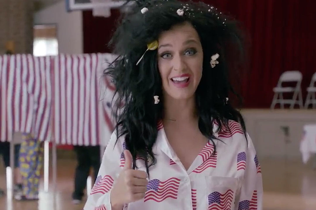 Katy Perry Votes Naked, Gets Arrested