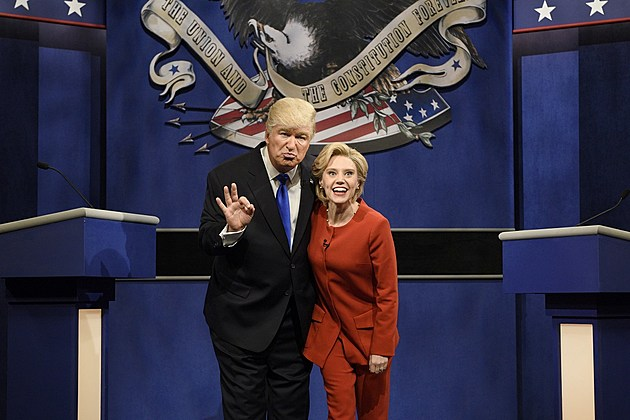 Alec Baldwin and Kate McKinnon as Donald Trump and Hillary Clinton on 'Saturday Night Live'