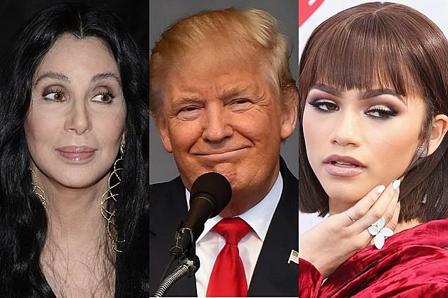 Cher, Donald Trump and Zendaya