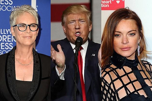 Jamie Lee Curtis, Donald Trump and Lindsay Lohan