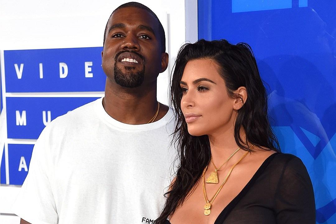 Kanye West and Kim Kardashian Attend 2016 MTV Video Music Awards
