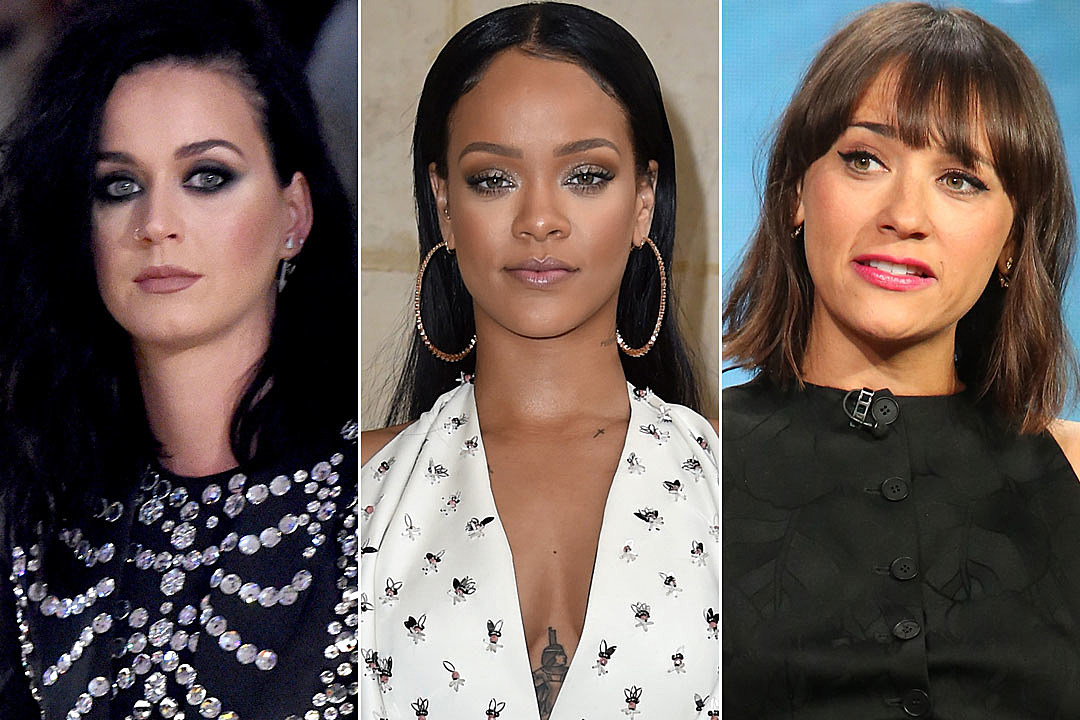 Katy Perry rihanna Rashida Jones celebrities react donald trump election