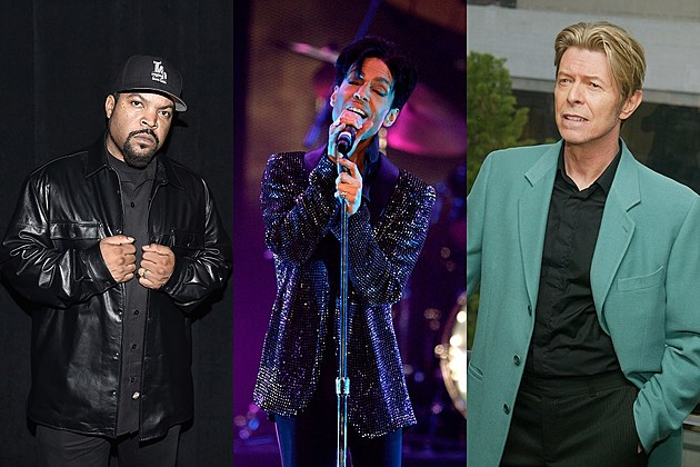 Ice Cube, Prince and David Bowie