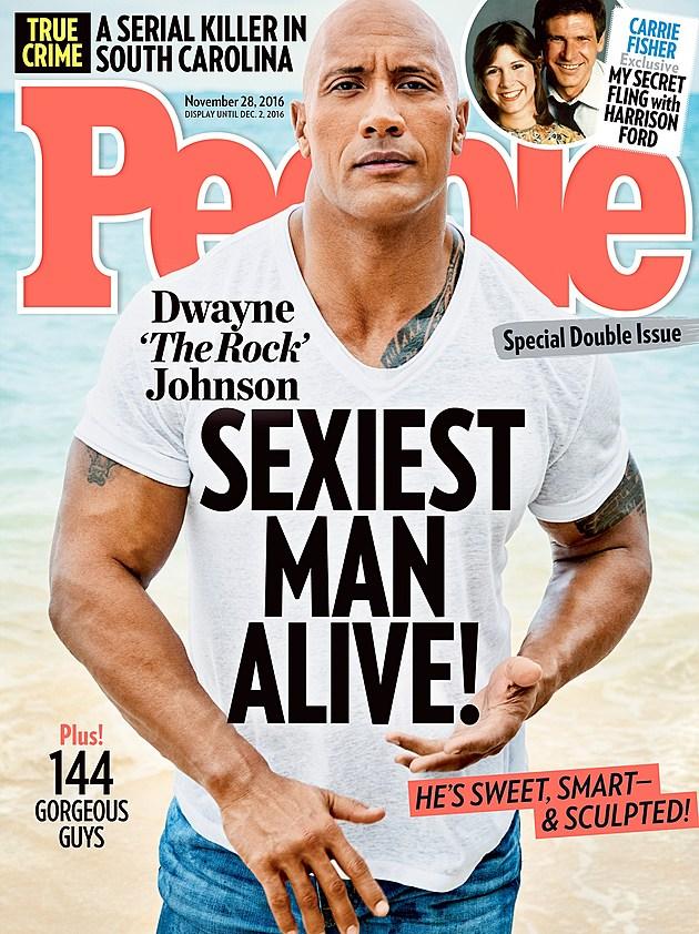 People Magazine Dwayne The Rock Johnson Sexiest Man Alive