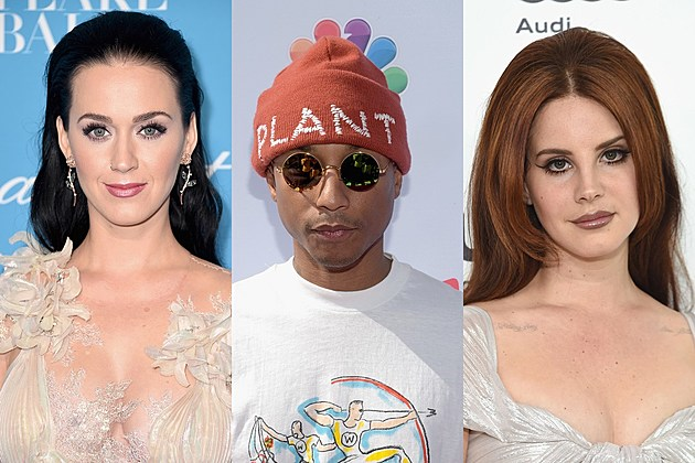 Katy Perry, Pharrell and Lana Del Rey