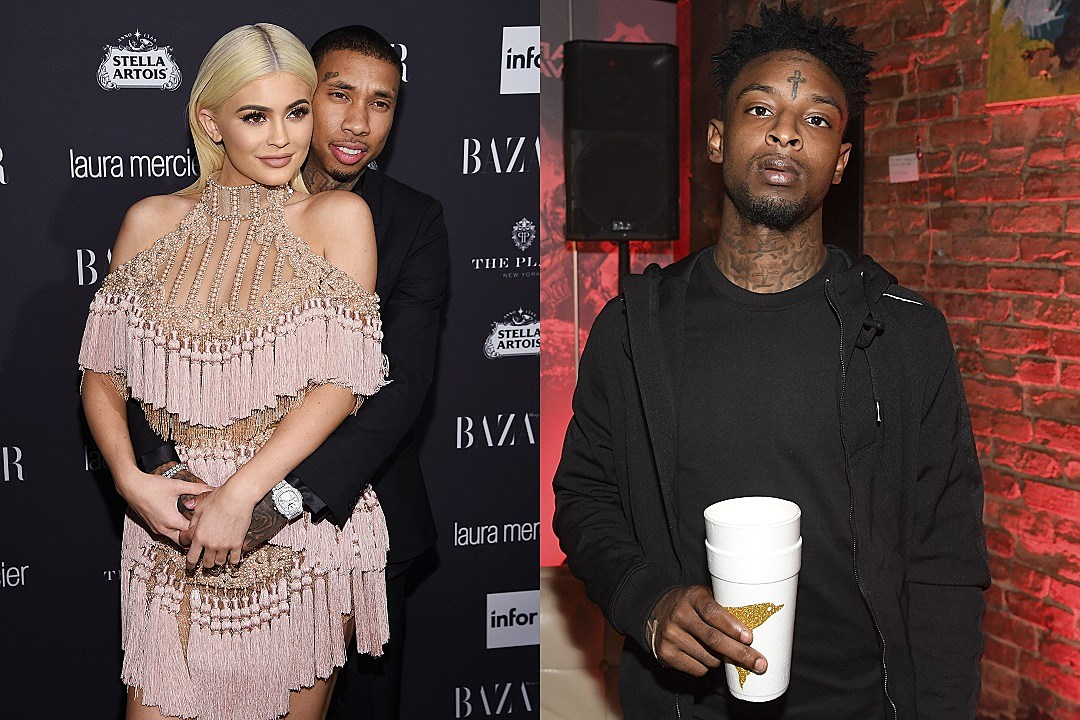 Kylie Jenner Flaunts Famous Derriere in Racy Fishnet Tights