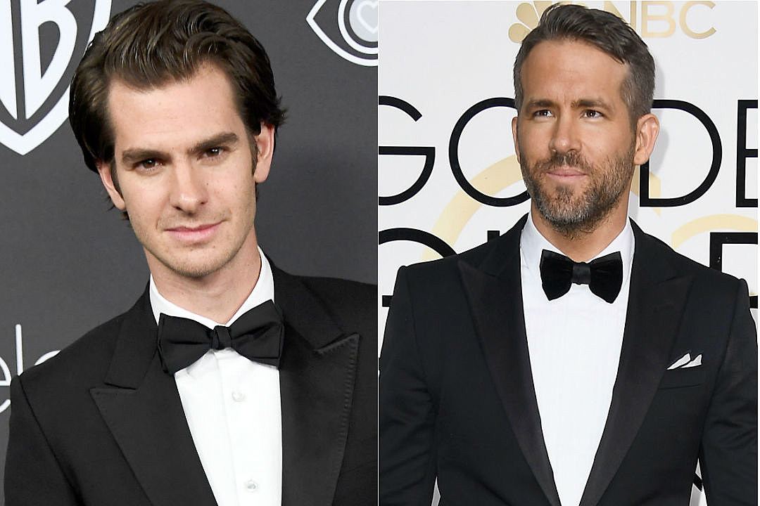 Andrew Garfield Ryan Reynolds Golden Globes Kiss