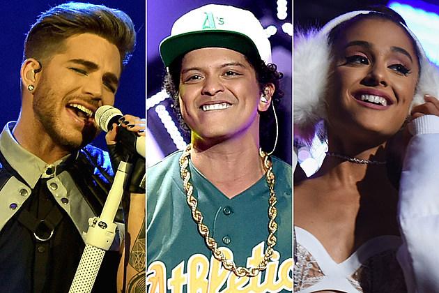 Adam Lambert Bruno Mars Ariana Grande