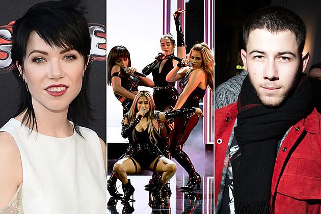 Carly Rae Jepsen Fifth Harmony Nick Jonas nhl all-star game 2017