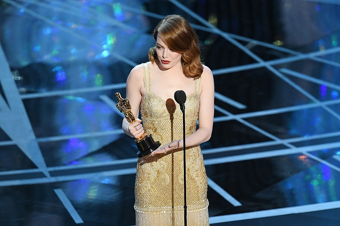 Emma Stone Took the Red Carpet in Peak Best Actress Attire